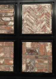entry and mudroom fresh from the nyc architectural digest show reclaimed thin brick veneer patterns for flooring interior walls fireplace brick