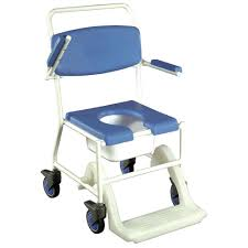 mobile shower commode chair vat exempt nrs healthcare