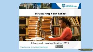 structuring your essay video skills hub structuring your essay video