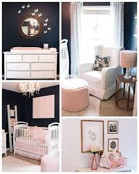 pink nursery furniture. love the dark walls and white furniture pink nursery