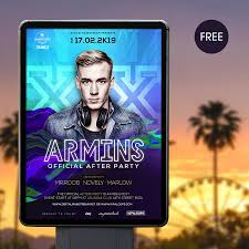free flayers electronic dance music flyer template free design resources