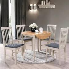 alston painted grey round dining table set 4 chairs round dining table set dining table sets