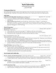 Cal Poly Resume Examples Recent College Graduate Resume 17 Objective For Sample 2017 In