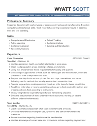 Taco Bell Resume Sample Best Of Best Test Operator Resumes ResumeHelp