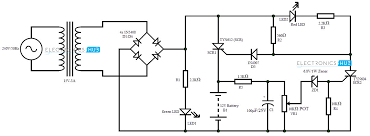 automatic 12v portable battery charger circuit using lm317 battery charger circuit