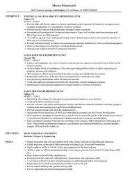 Sales Service Representative Resume Samples Velvet Jobs