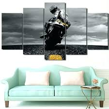 sports canvas art outdoor canvas art modern painting wall pictures 5 pieces sports motorcycle home decor sports canvas art