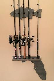 fishing pole wall rack fishing rod wall mount holder 5 clips available up to 8 rod