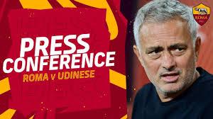 CONFERENZA STAMPA | Mourinho alla vigilia di Roma-Udinese - YouTube