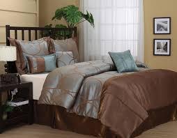 nanshing annna queen 7 piece jacquard comforter set aqua chocolate