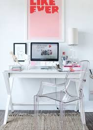 white desk for home office. contemporary office furniture modern white pink home space desk ghost plaxi glass chair for n