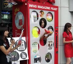 Human Vending Machine Japan Inspiration A Human Vending Machine In Shibuya Japan Unexpected Weird