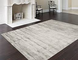 homemusthaves solid silk contemporary modern hand tufted 100 wool area rug carpet for living
