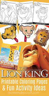 Here you can find lots of free lion king coloring pages that you can easily print out and give it to your kids. Disney S The Lion King Printable Coloring Pages Activity Ideas Mom Endeavors