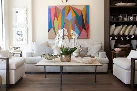 at hr home in montecito a three legged coffee table is clic on the