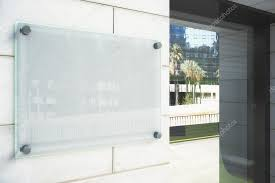 blank glassy signboard on the wall