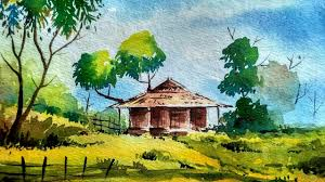 painting of landscape easy watercolor painting easy tutorial landscape how to paint a
