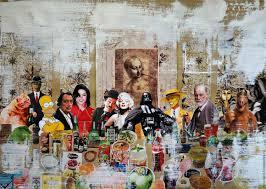 a painting based on leonardo da vinci s the the last supper leonardo da vinci marilyn monroe darth vader mask