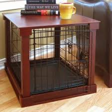 Dog crates furniture style Wooden Merry Products End Table Pet Crate With Cage Cover Moorish Falafel Dog Crate Furniture Hayneedle