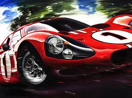 ford gt40 mk iv le mans 1967 gurney foyt race car art print poster