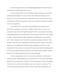 bullying essay example com bullying essay example 15 my experience being bullied kibin anup