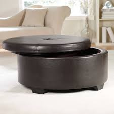 Sofa Ottoman Furniture Round Leather Ottoman Storage Ottoman