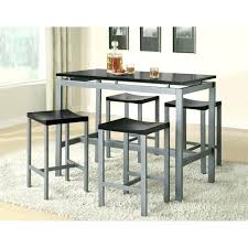 kitchen table with stools attached round