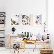 coastal wall decor palm trees print