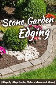 stone garden edging ideas step by step