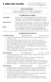 Resume Format For Hospitality Industry Sample Resume For Hospitality