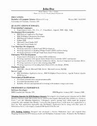 Sample Software Engineer Resume Lovely Java Developer Entry Level