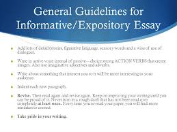 expository informative essay ppt video online  general guidelines for informative expository essay