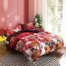 childrens xmas bedding bedding set rose reindeer deer duvet cover set pillowcase for kids childrens
