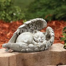 angel wings sleeping cat memorial