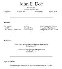 Beginner Resume Template Beauteous Beginners Acting Resume Sample For Market Template With Beginning