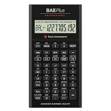 Financial Calculator Texas Instruments Financial Calculator Baii Pro