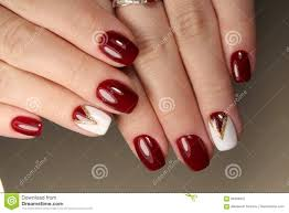 Red And White Nail Designs Manicure Design Red And White Stock Image Image Of Nails