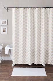 Better Homes and Gardens Metallic Chevron Fabric Shower Curtain Set