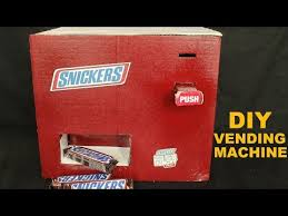 How To Make A Chocolate Vending Machine Simple How To Make A Snickers Chocolate Vending Machine At Home DIY YouTube