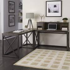 xcel l corner desk with hutch