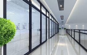 office corridor door glass. Office Building Corridor Green Rendering Door Glass O