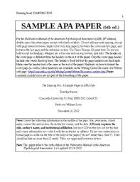 Free Apa Style Paper Template By Wendy Todoric Tpt