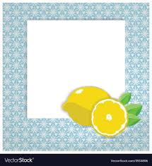 Recipe Page Layout Universal Page Layout With Lemon Icon Recipe Or Vector Image