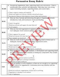 Persuasive Essay Rubric Persuasive Essay Rubric For Grading Revision Student Self