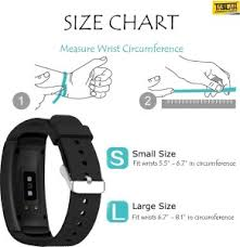 Gear Fit 2 Pro Size Chart Taslar Replacement Band Wrist Strap For Samsung Gear Fit 2 Gear Fit 2 Pro Smart Band Strapblack