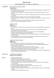 Bar Manager Resume Examples Bar Manager Resume Samples Velvet Jobs 1