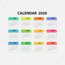 Template Calendar 2020 2020 Calendar Template Calendar 2020 Set Of 12 Months Yearly