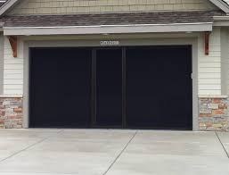garage door screensGarage Door Screen Panels Black  John Robinson House Decor