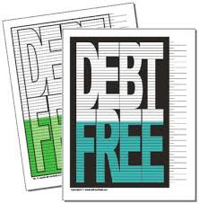 Mortgage Payoff Chart Printable Free Charts For Staying Motivated On Your Debt Free Journey