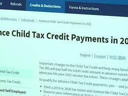 Stimulus update: Child tax credit ...